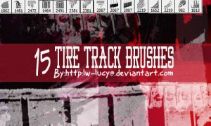15 Pack Tire Tread Grunge Brushes by LW-Lucy