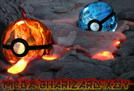 Mega Charizard X and Y Pokeball by kirkchanelle