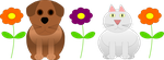 Cat, Dog and Flowers :) by adampanak