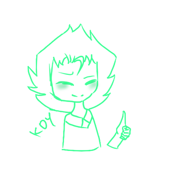 Peridot gives a thumbs up to you!! by Koymija