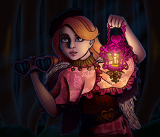 Cupid through the woods by A-queenoffairys