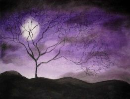 Pastel Chalk 05 - Under a Violet Moon by CpointSpoint