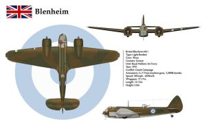 Blenheim 1 Greece 3-View by WS-Clave