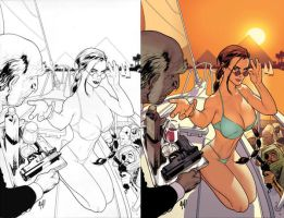 Lara Croft SwimSuit Issue by AdamHughes