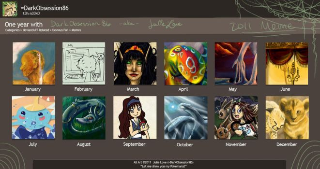2011 Review Meme by julieloveart
