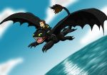 Hiccup and Toothless by Leafyful