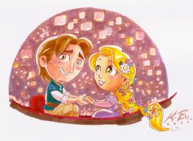 Disney Tangled Commission by kevinbolk