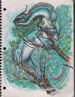 Notebook tree dragon by mikadove