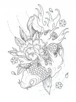koi outline by SilentStudiosUK