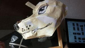 WIP: Fursuit head 3D sketch (side) by pazuzu-eu