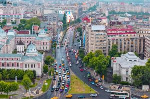 Bucharest in a rainy day by Rikitza