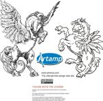 Vector Winged Horses by artamp