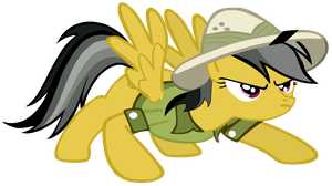My first vector of, Daring Do. by Flutterflyraptor