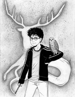 Potter and Patronus - Inktober by ColorMyMemory