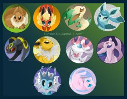 Pokemon buttons by Key-Feathers