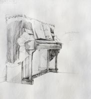 Piano Sketch by SilentHome