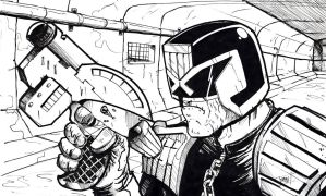 Judge Dredd,sewer patrol! by ComicStumps