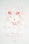 Christmas Card by MinorasPatchworkArt