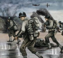 Omaha 6th June 1944 by timcatherall