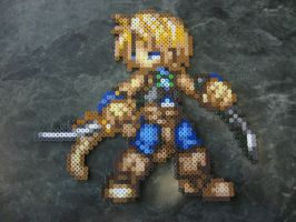 Perler Zidane from Final Fantasy 9 by rushtalion