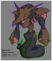 BW3 Pokedex: Basilisk Relic Form by Midnitez-REMIX