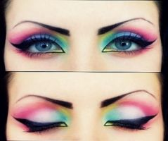 colourful eye makeup by LouVicious