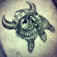 viking owl by InkSlave84