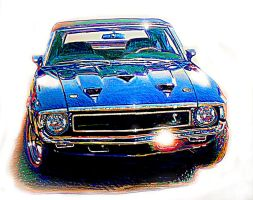 Shelby Mustang by johnwickart