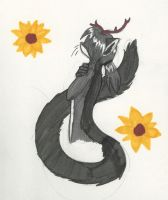 Sunflowers by Redfeathyrs