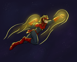 Captain Marvel by dragonsong12