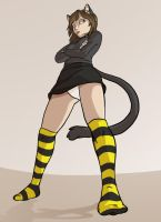 Commission- Cat Girl by Fyuvix