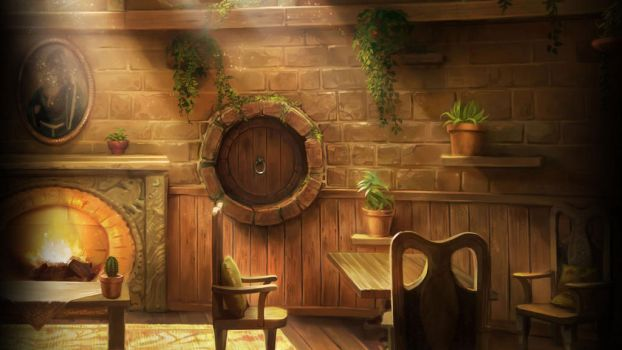 Pottermore Background: Hufflepuff Common Room by xxtayce