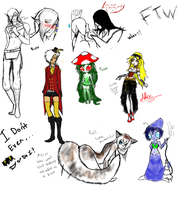 Random wtf ftw doodles I don't even know anymore by XDemonitaX