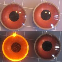 Brown 3D led eyes by Monoyasha