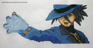 Riley (Pokemon DPPt) Cross Stitch by ShiroiKoumori
