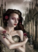 Two roses by vampirekingdom