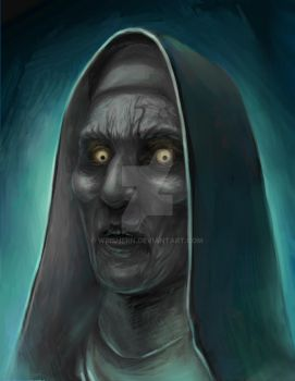 Creepy Nun (The Conjuring 2) by weishern