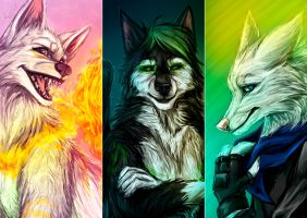 Great Wolves by Amand4
