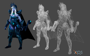 Drow Ranger WIP by ZayrCroft