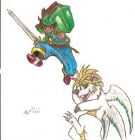 An old Secret of Mana drawing by queenofcats81