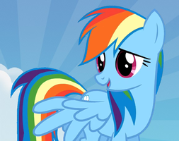 Rainbow dash in the clouds by pewdiedash