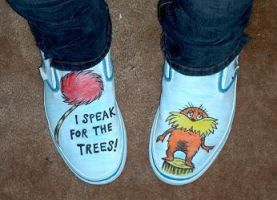 my bitchin' lorax shoes by scientific-fraud