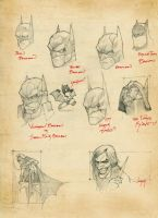 batman sketches by hupao