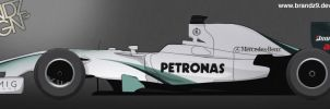 Mercedes Petronas Livery 2010 by brandonseaber