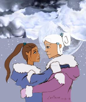 Yue and sokka by Laflora-Cups-of-teas