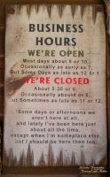 Business Hours Sign by RavingEagleMedia