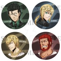 FA - Fate Zero Badges by Paleblood