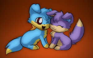 Puppy Couple With Each Other 3 by RadiateZoom