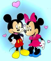 Mickey and Minnie by FluffySora
