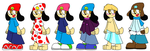 Parappa Outfit Experiment by Dusty-Mew